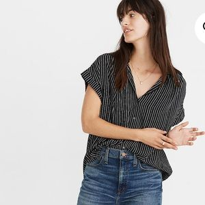 Madewell Central Drapey Shirt in Harold Stripe
